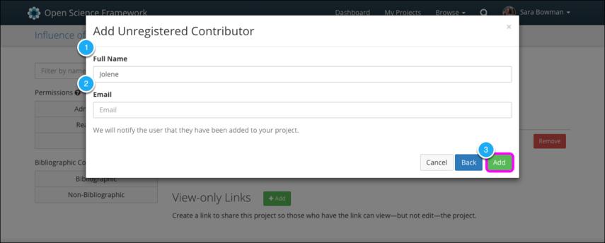 Add Unregistered Contributor II