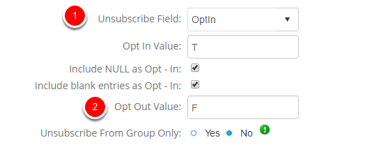 Find out the unsubscribe value