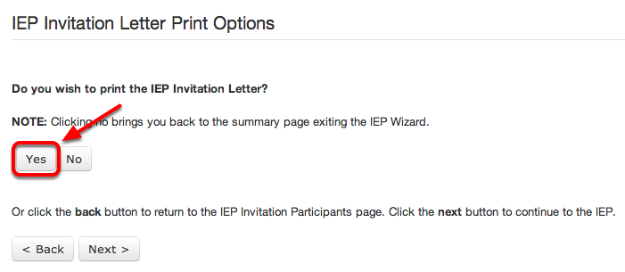 Print the IEP Invitation