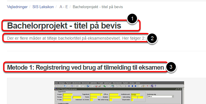Find vejledningen på http://screensteps.phmetropol.dk
