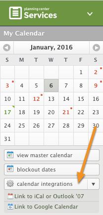 Choose Your Calendar Feed