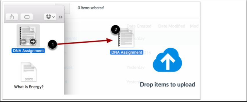 Ladda upp Filer via Drag och Droppa