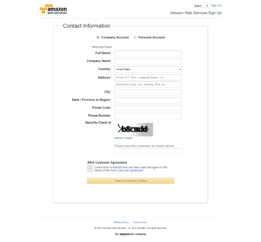 Create An Aws Account Amazon Web Services For Self Hosted Self