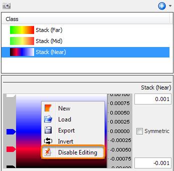 Disable editing of colourbar