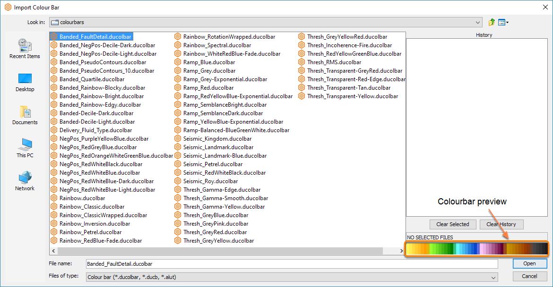 Select a colourbar file