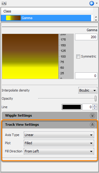 Configure the track view settings