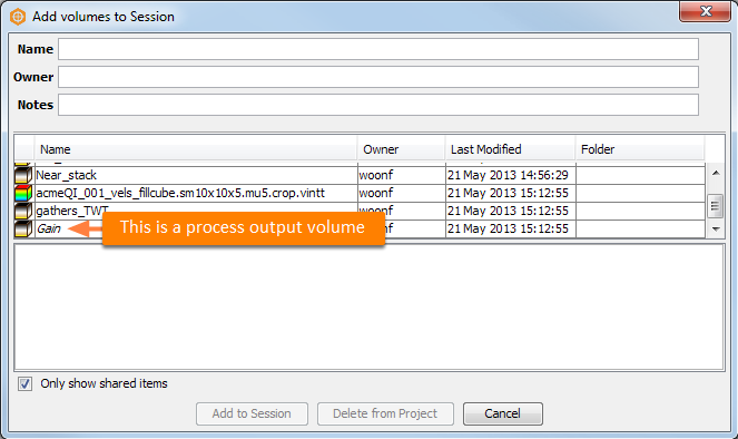 Distinguish on-disk volumes from process output