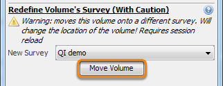 Shift volume to a new location