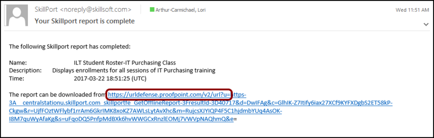 how to find a url in email message