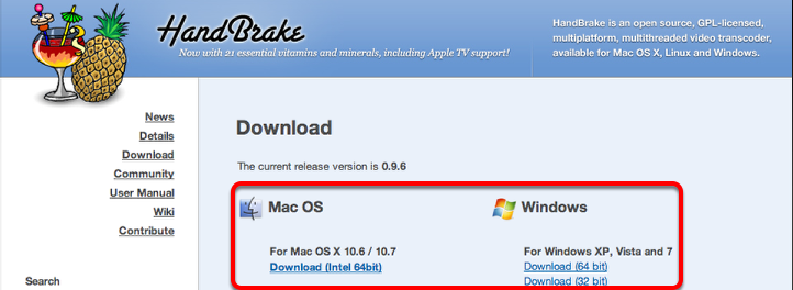 Step 1: Download Handbrake™
