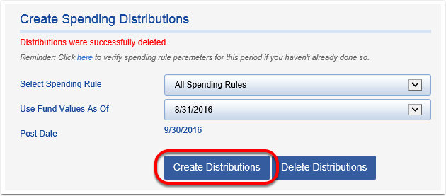 Create Distributions