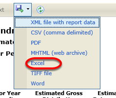 Export to Excel.
