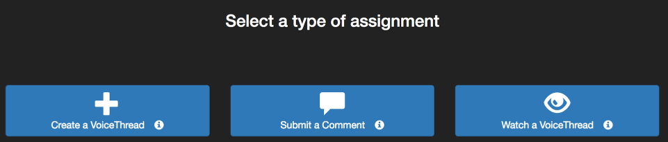 Select type of assignment.