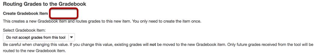 Create Gradebook Item.