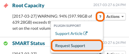 Create a Plugin Support request
