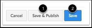 Spara och Publicera