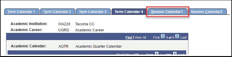 Session Calendar 1