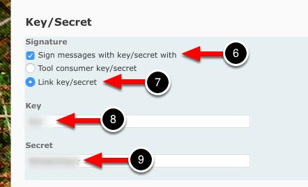 Step 3: Enter Key/Secret
