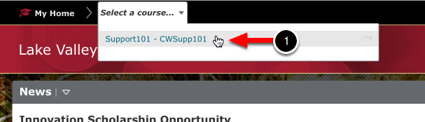 Step 1: Select Course