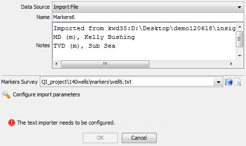 Import a marker file