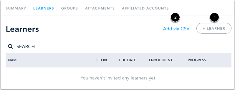 Add Learner