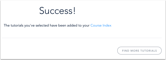 View Course Index Notification