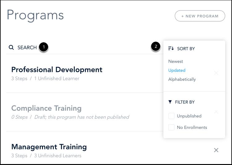 Filter Programs