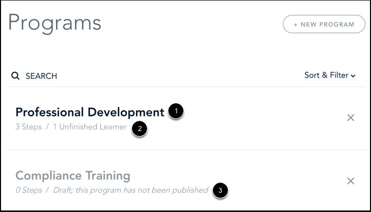 View Programs