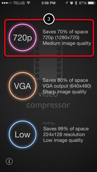 Step 2: Select Compression Option