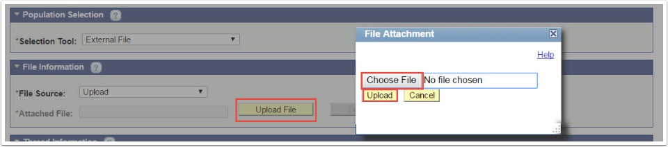 Choose File in File Attachement section