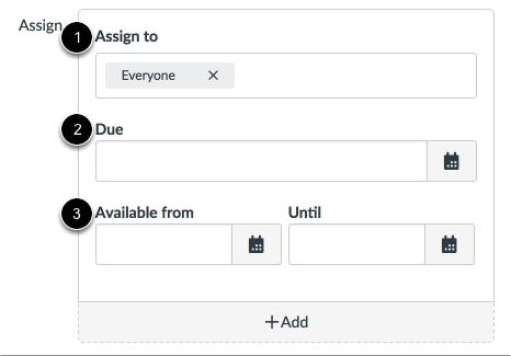 Editar fechas límite y de disponibilidad