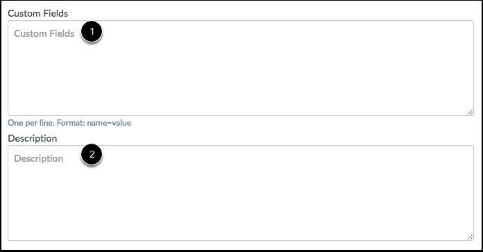 Add Custom Fields and Descriptions