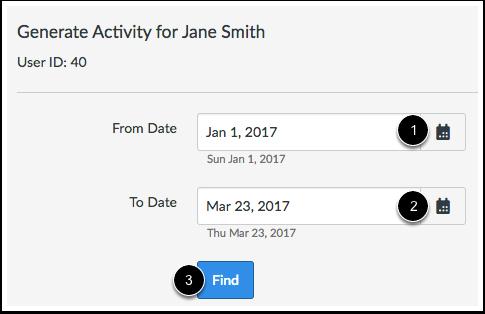 Enter Date Range