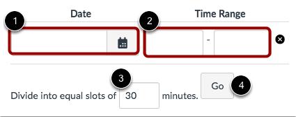 Establecer intervalos de tiempo de la cita