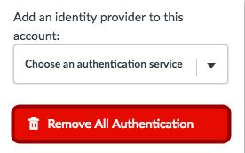 Remover toda autenticación