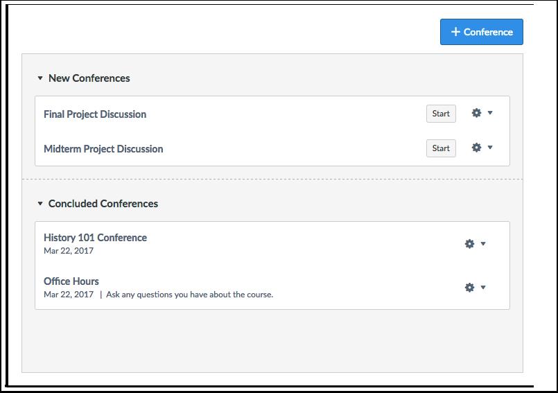 Quando devo usar Conferências como Instrutor?