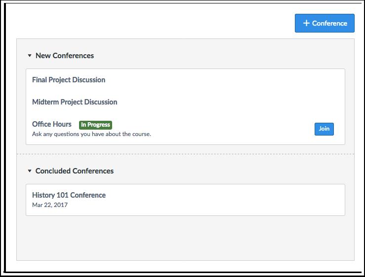 Quando devo usar Conferências como Estudante?