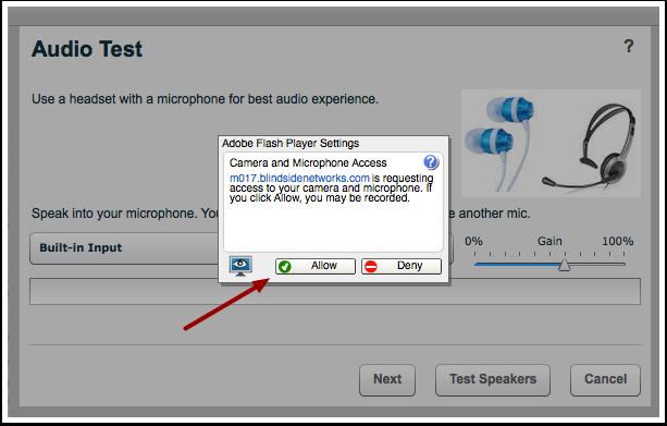Aceitar Configurações para o Adobe Flash Player