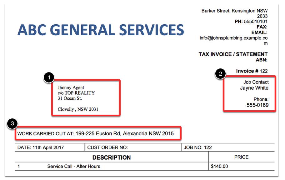 tenant invoice