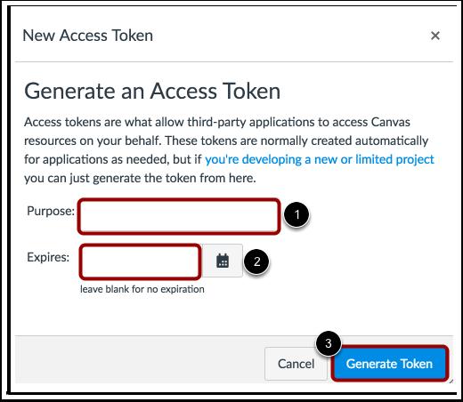 Inserir Informação do Token