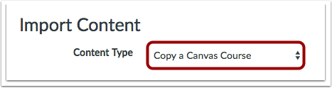 Seleccionar tipo de contenido