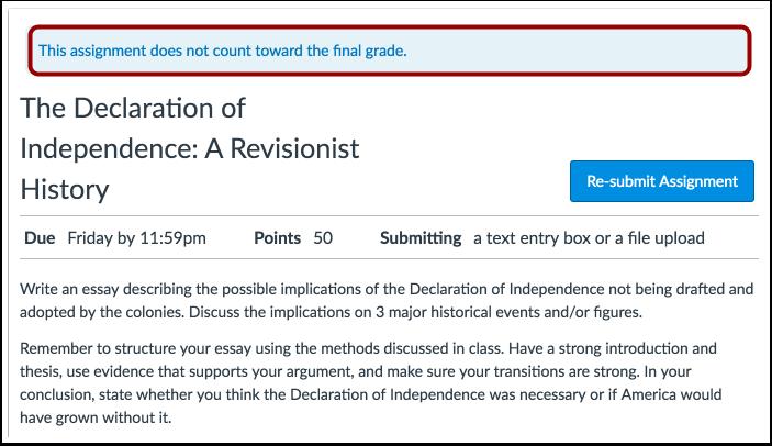 Ver aviso de calificación final