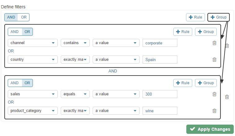 Group (Compound Filter Criteria)