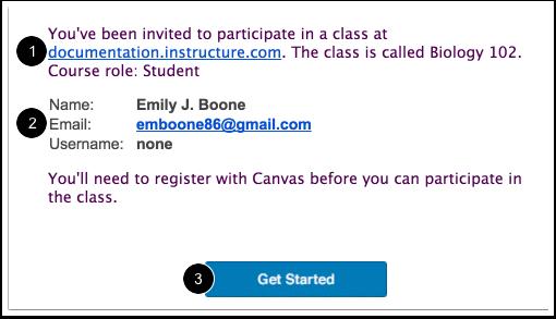 Aceptar una invitación para el curso