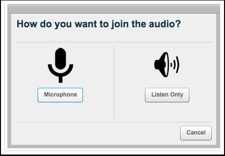 Unirse al audio