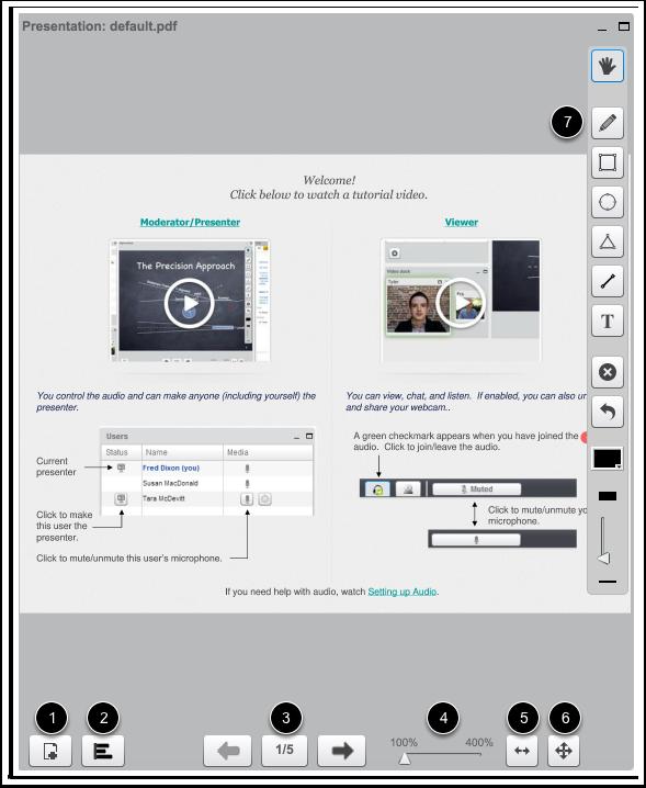 Compartir herramientas de presentación