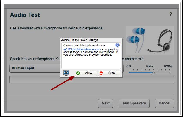 Aceptar la configuración de Adobe Flash Player