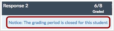 Ver periodo de calificación cerrado
