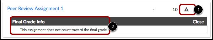 Ver información de la calificación