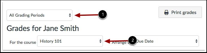 Ver períodos de calificación